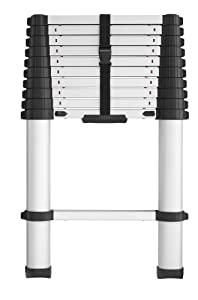 Cosco 20311T1ASE Smartclose Telescoping Aluminum Ladder, (300-Pound Capacity, 10.5 ft. ladder with 14 ft. Max Reach)
