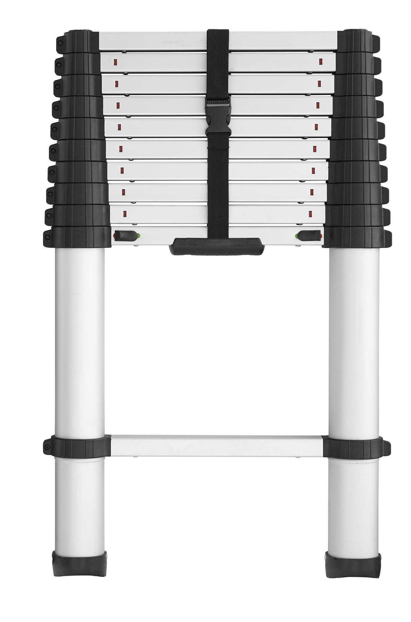 COSCO 20311T1ASE SmartClose Telescoping Aluminum Ladder with Pinch-Free, Soft-Close Locking Mechanism (300-Pound Capacity, 10.5 ft. ladder with 14 ft. Max Reach)