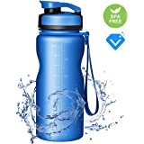 OMORC Sports Water Bottle BPA Free 32OZ, Tritan Plastic Bottle Fast Flow and Flip Top Lid, One Click Open Perfect for Fitness, Outdoor, Camping