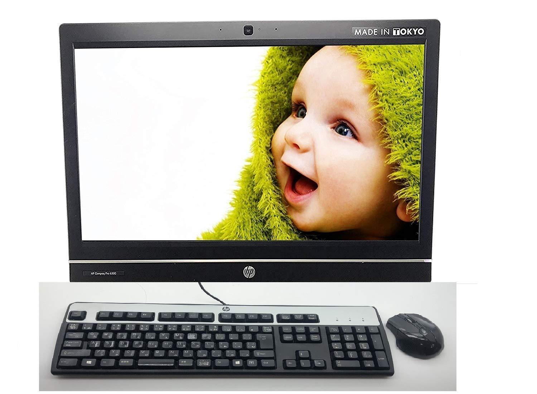 中古 HP 一体型 正規Office,Windows 10 搭載 Intel Core i3(第3世代),メモリ 6 GB, 大容量 500 GB HDD, 光学ドライブ, USB 無線(WiFi),Web-カメラ, 21.5型 中古ノート, Fullセットキーボード、マウス付き HP Compaq Pro 6300 B07H18H3MY, ニシナリク 0f3ecf5b