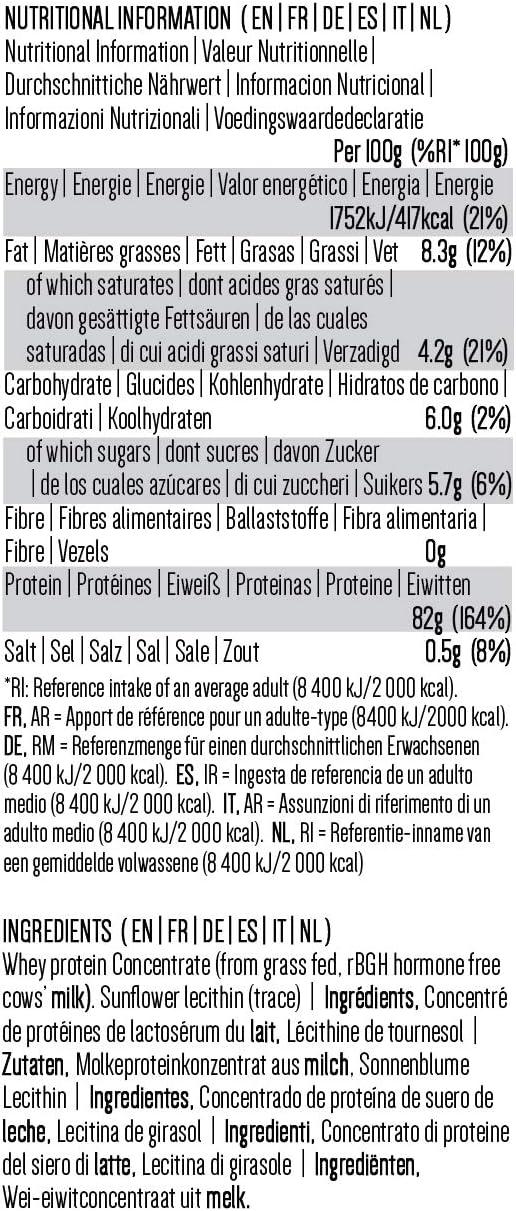 PINK SUN Concentrado de Proteína de Suero 1kg Hierba alimentada sin Hormonas Neutro sin Sabor sin Gluten sin Soja Everyday Whey Protein Concentrate ...