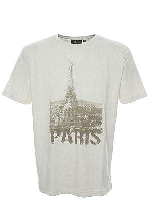 Kitaro T Shirt Shirt Herren Kurzarm Rundhals Baumwolle Paris, Herrengrößen:M
