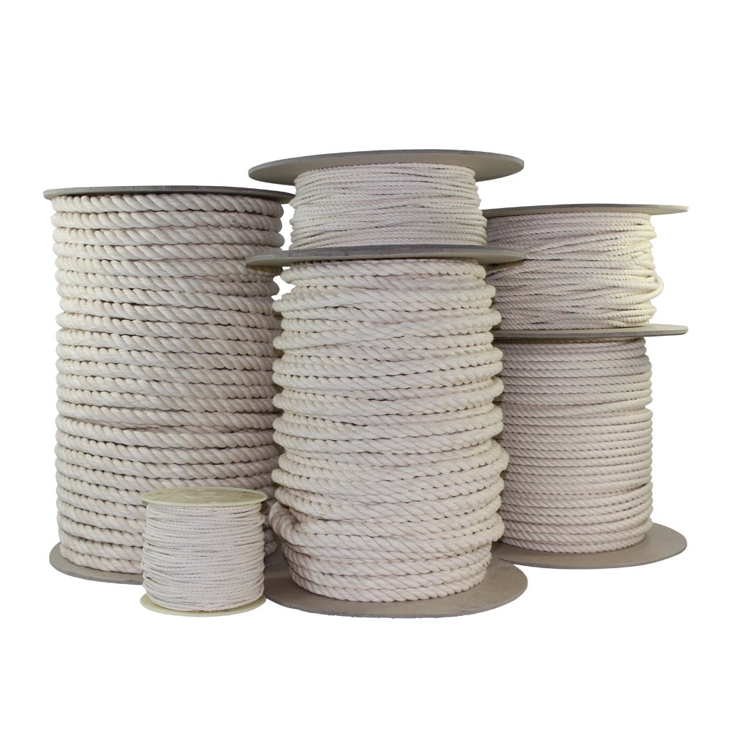 SGT KNOTS Twisted Cotton Rope 1/2 inch All Natural Biodegradable Cord - No Bleach or Dyes - High Strength Low Stretch - DIY Projects, Crafts, Commercial, Pet Toys, Indoor/Outdoor (300 feet) by SGT KNOTS