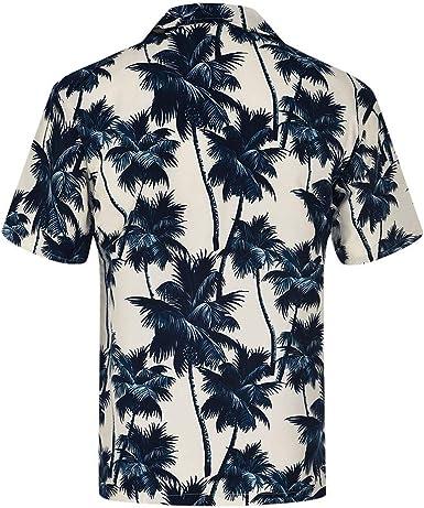 Shirts for Men Hawaii Print Polo Blouse Short Sleeve Tops Tee Business Fashion Beach Henley Shirt