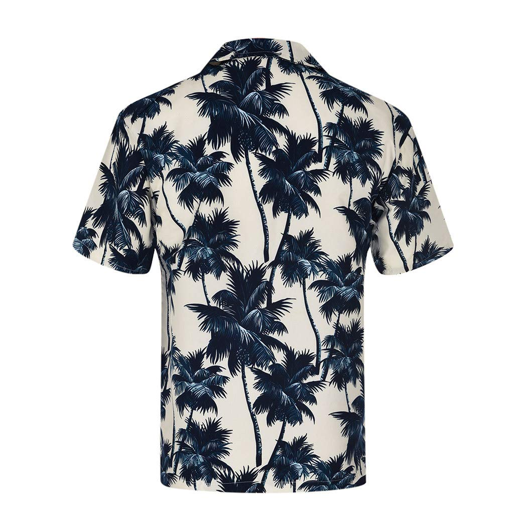 sweetnice man clothing Floral Printed Hawaiian Shirt for Men Funky Casual Regular Fit Button Down Collar T-Shirt