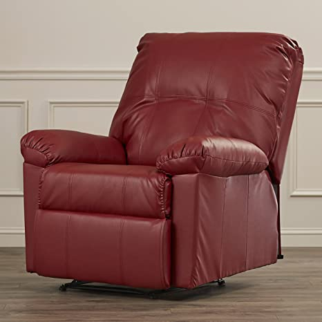 Charlton Home - Sillón reclinable (Piel), Color Rojo: Amazon ...