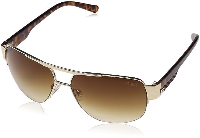 Guess Guf126, Gafas de Sol para Hombre, Dorado, 60