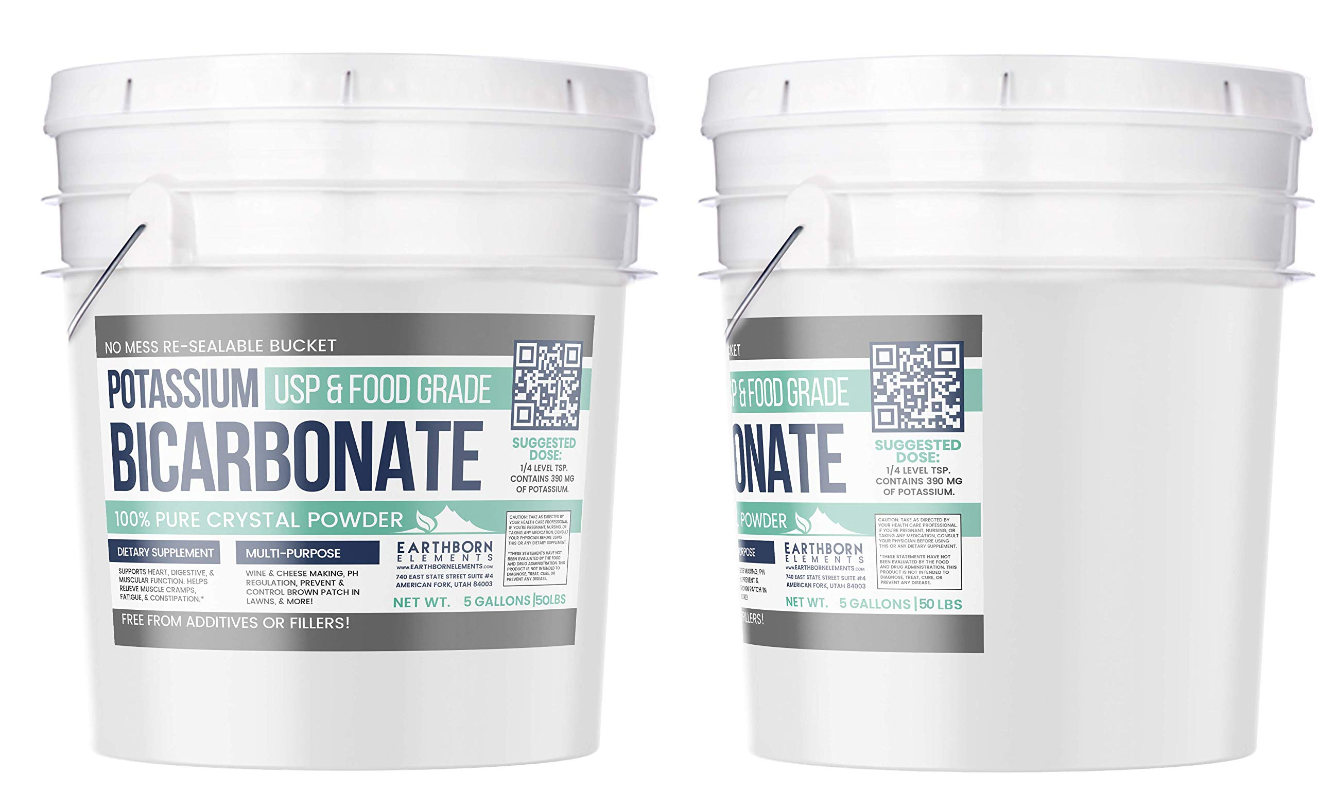 Potassium Bicarbonate (5 Gallon, 50 lbs,) by Earthborn Elements, Highest Purity, Food and USP Pharmaceutical Grade by Earthborn Elements (Image #3)