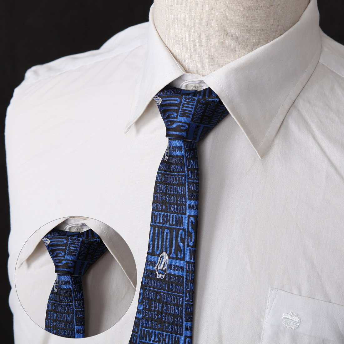 DANF0039 Series Colors 5cm-width Polyester Slim Ties Creative Fashion Skinny Ties - 5 Styles Available Inspire For Business By Dan Smith by Dan Smith (Image #5)