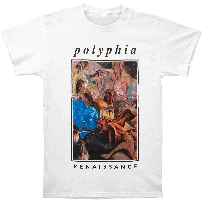 921c2fa4 Amazon.com: Polyphia Men's Melting Painting T-shirt Small White: Clothing