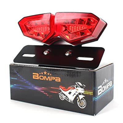LED Turn Signal Lights Motorcycle Tail Light Integrated Blinker Universal Fit 12V for Harley Honda Yamaha Suzuki Kawasaki etc: Automotive