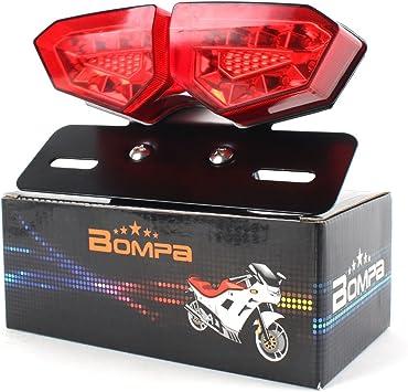 Pack of 1 TUINCYN Motorbike Integrated LED Brake Light /& Turn Signals Indicator Light Blinker Lamp 2 in 1 Motorcycle Rear Stop Break Light Motor Bulb Mounting Accessories