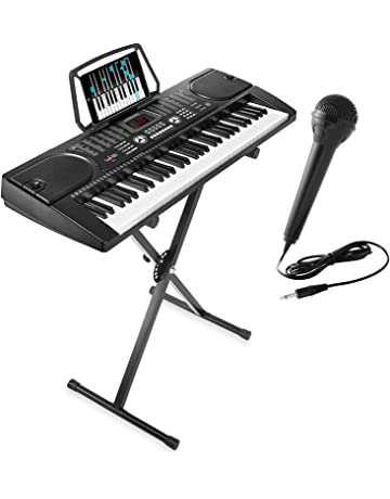 058ff3d60a2 Hamzer 61-Key Digital Music Piano Keyboard - Portable Electronic Musical  Instrument - with Stand