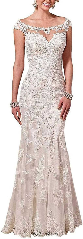 Baixia Meerjungfrau Spitze Kristall Hochzeitskleid Trompete Brautkleid