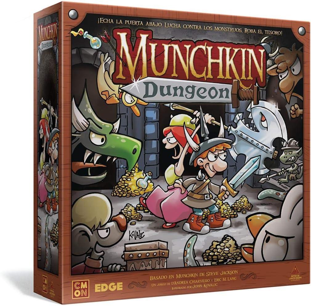 #Juegodemesa Munchkin Dungeon ¡Echa la puerta abajo, lucha contra los monstruos, roba el tesoro! por 56,99€