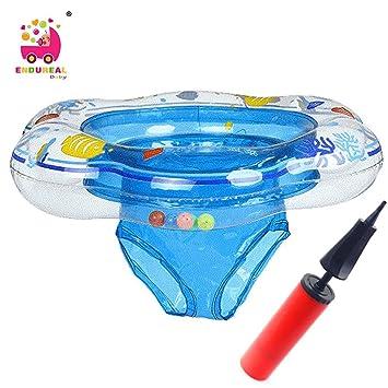 Flotador infantil con asiento, inflable, para bebés, incluye una bomba de hinchado, de Endureal, azul: Amazon.es: Jardín