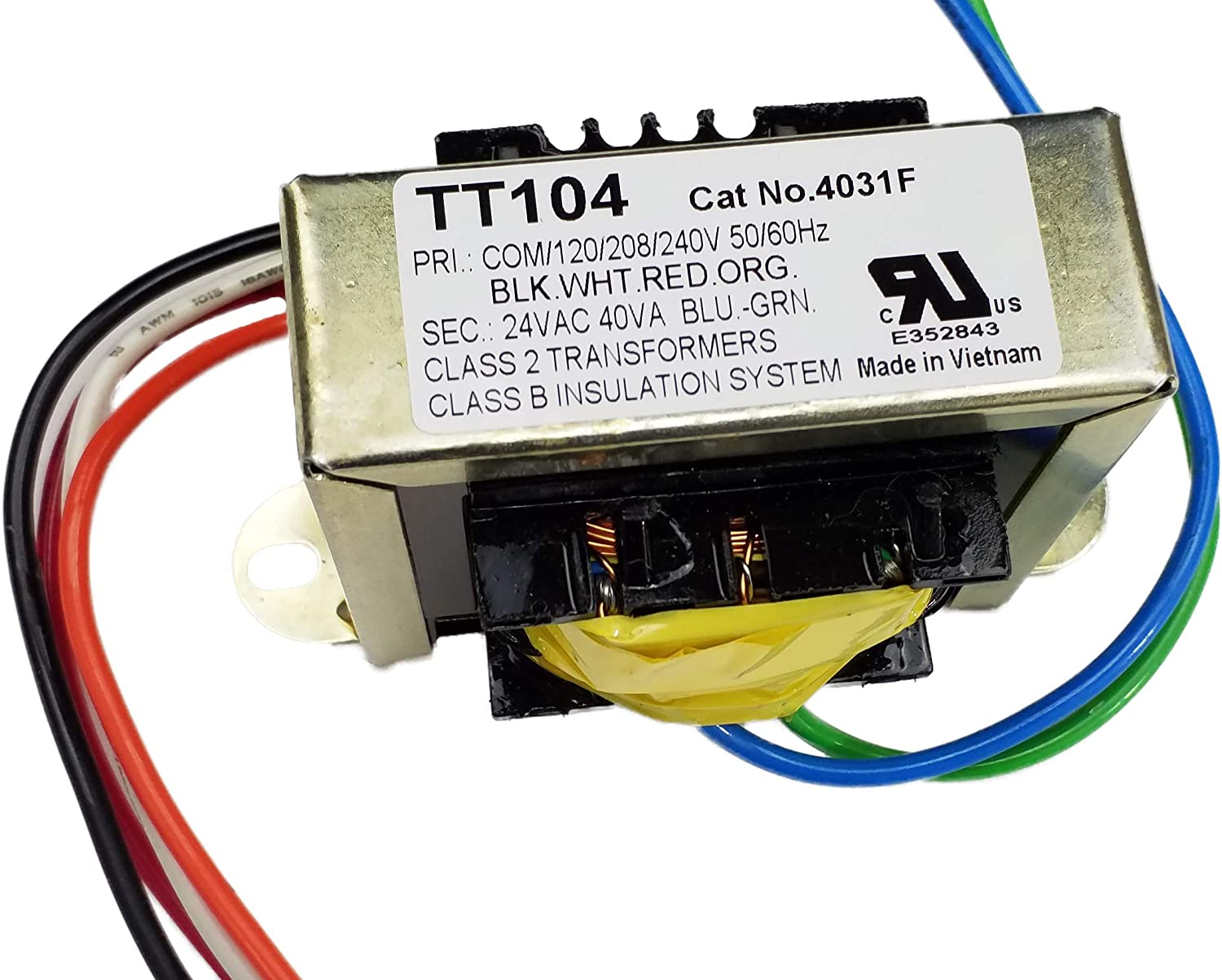 Amazon.com: TGM 40 VA HVAC Control Transformer 120/208/240 VAC Input 24 VAC  Output: Home Improvement | Hvac Transformer Wiring System 2 |  | Amazon.com
