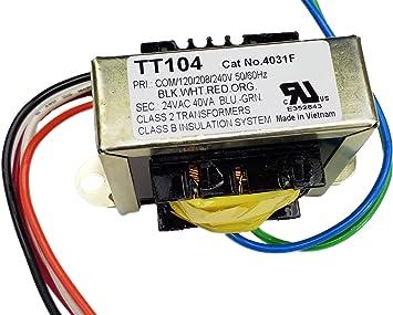 Amazon.com: TGM 40 VA HVAC Control Transformer 120/208/240 VAC Input 24 VAC  Output: Home Improvement | Hvac Transformer Wiring System 2 |  | Amazon.com