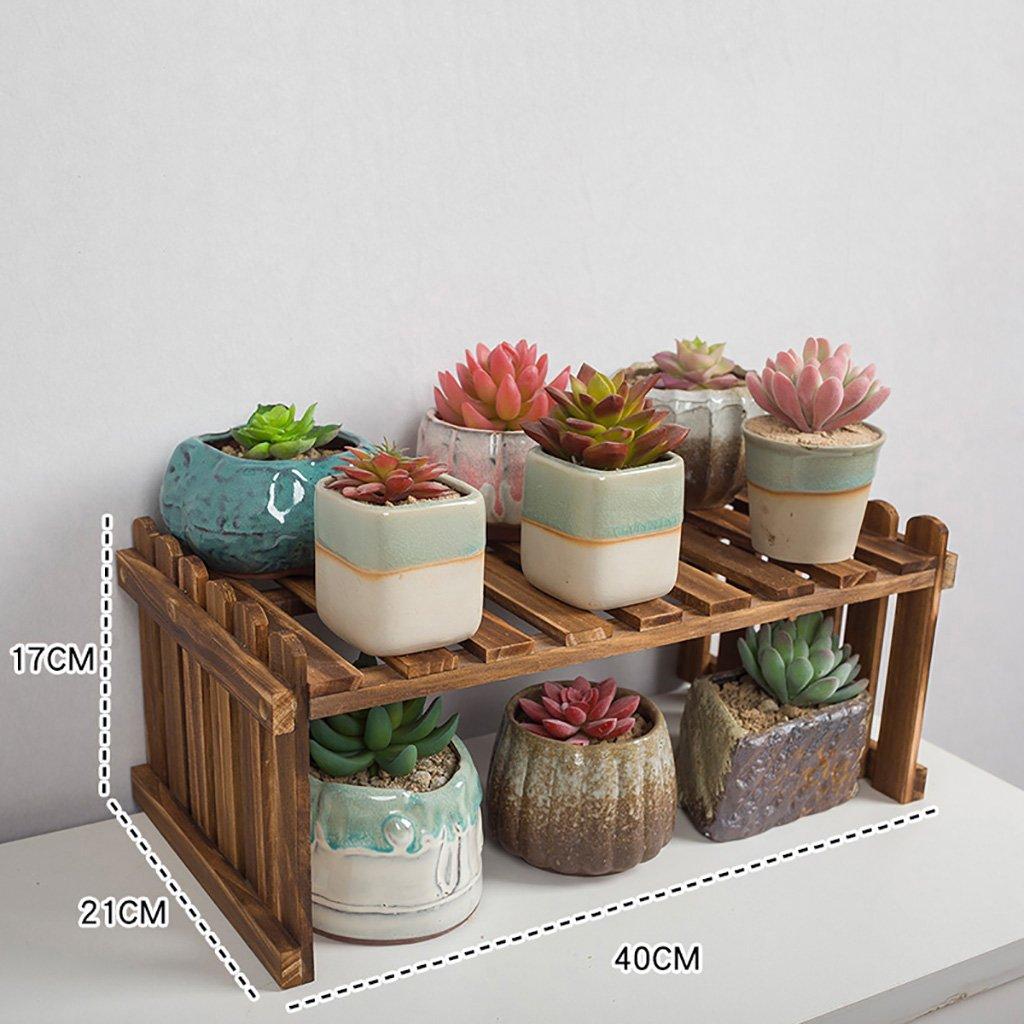 HJ flower rack Yxsd Mensola per Fiori in Legno, Multi-Strato da Interno Bianco scrivania Balcone Soggiorno portavasi (Dimensioni   40×21×17cm)