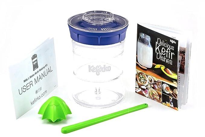 Kefirko - El set ideal para hacer kéfir de leche o kéfir de agua en casa (848ml): Amazon.es: Hogar
