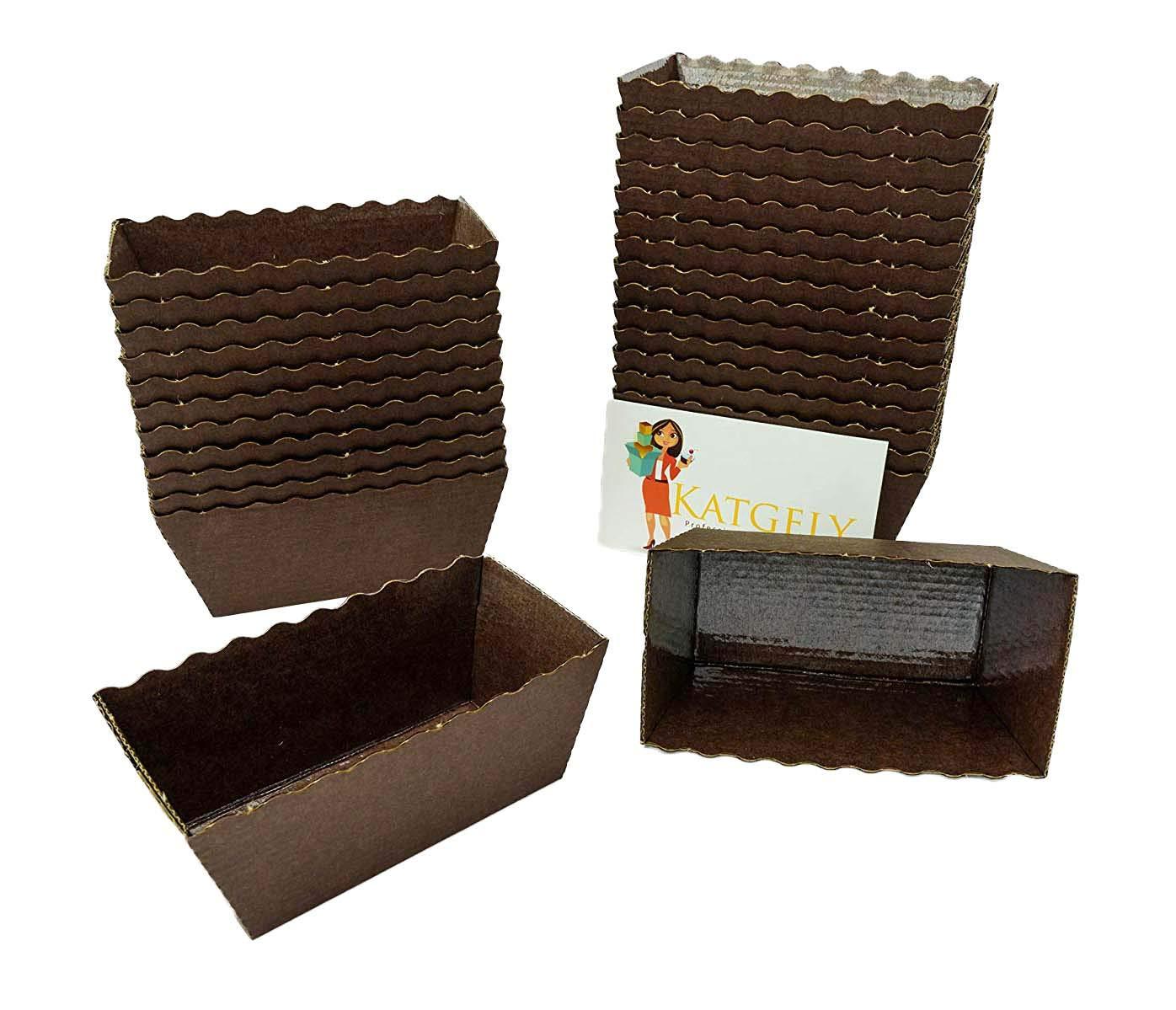 Katgely Dark Brown Mini Loaf Mold (Pack of 100) by katgely