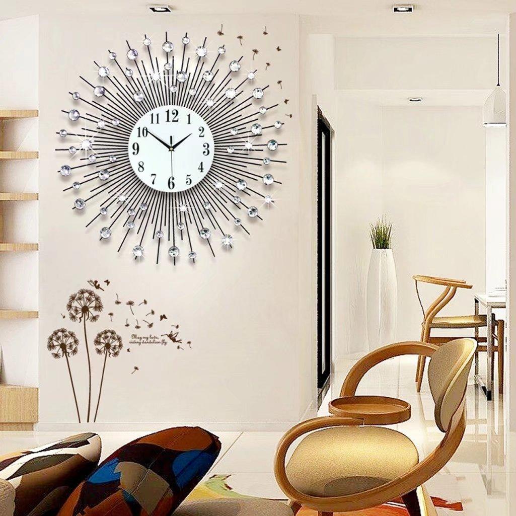 A-KUYA アメリカ式 簡約 モダン ファッション 石英時計 静か デザイン 壁掛け おしゃれ 掛け時計 デジタル インテリア ホーム 客室 電池式 静音 リビング 三サイズ B073RDQ8QM幅60cm*高さ60cm