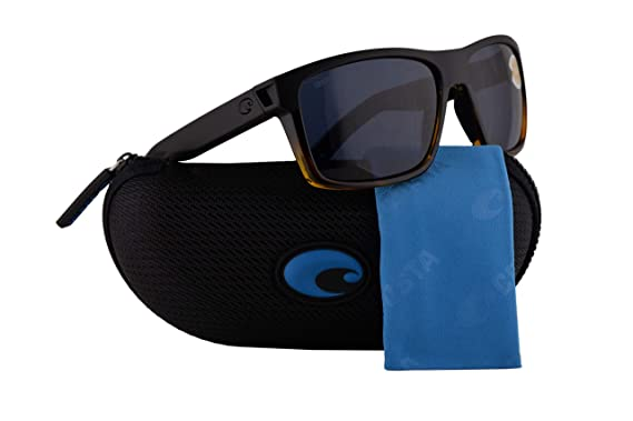 dfa77256382c Amazon.com: Costa Del Mar Slack Tide Sunglasses Matte Black Tortoise ...
