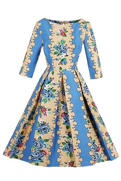 Babyonlinedress Vestido de verano otoño para mujer estilo vintage a los años 20 vestido largo para