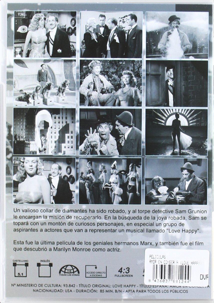 Love_Happy [DVD]: Amazon.es: Hermanos Marx, Varios, David Miller ...
