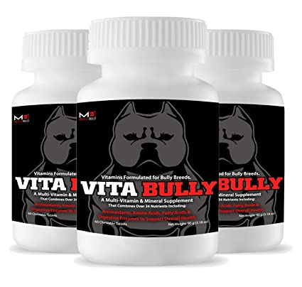 Vita Bully Vitamins for Bully Breeds: Pit Bulls, American Bullies, Exotic  Bullies, Bulldogs, Pocket Bullies, Made in The USA