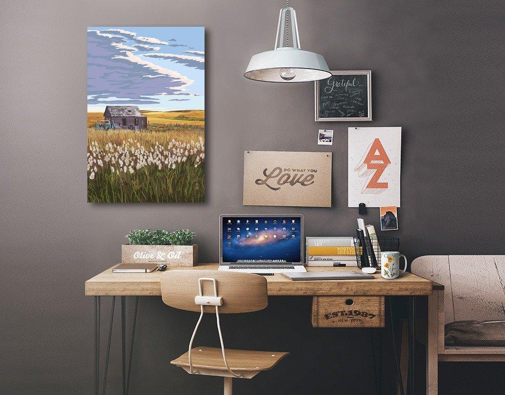 Wheat Fields 24x36 Gallery Quality Metal Art