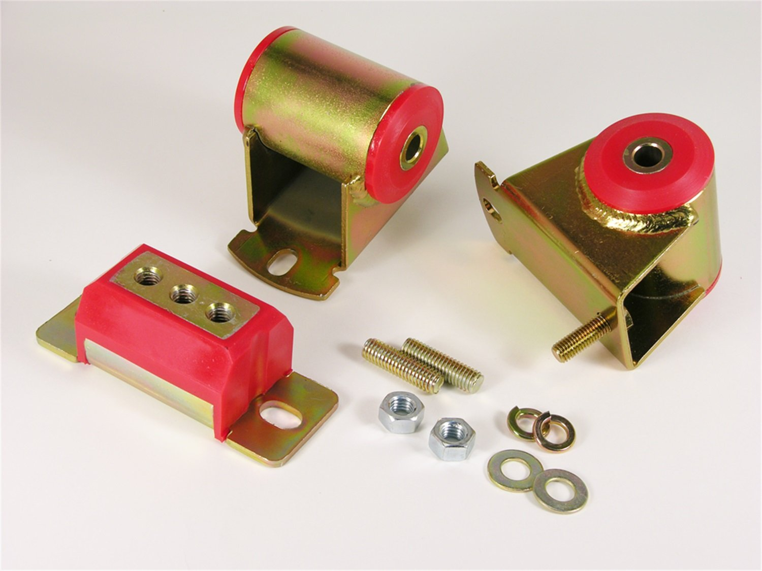 Prothane 1-1906 Red Motor and Transmission Mount Kit for YJ 01/01/1906