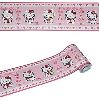 5 m - Bordüre / Wandtattoo - selbstklebend - Hello Kitty ...