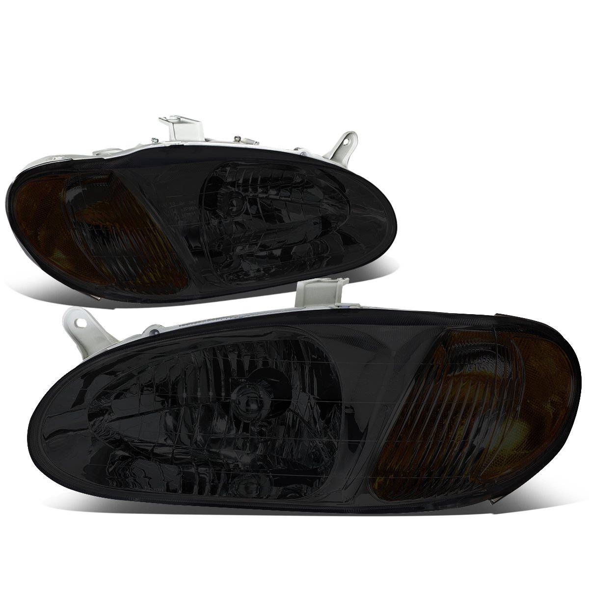 DNA Motoring HL-OH-058-SM-AM Pair Smoked//Amber Headlight For 98-01 Sephia