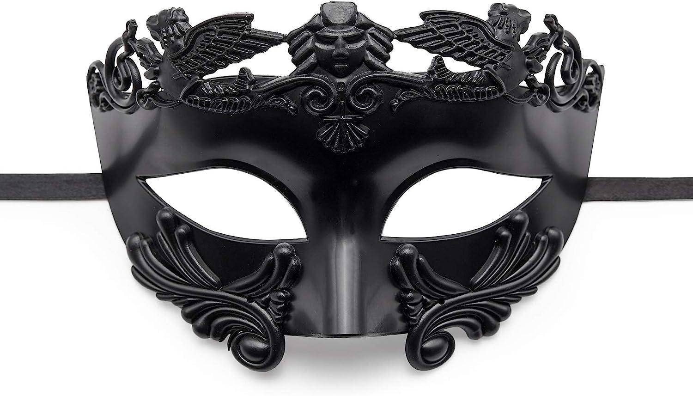 BAWASEEHI Masquerade Mask for Men- Roman Greek Mythological Ventian Mask Halloween Cosplay Mardi Gras