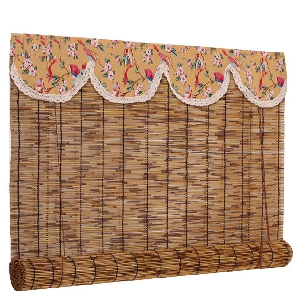 GDMING 竹ブランド竹ルカテン竹ロールアップブラインド竹製ブラインド屋外の屋内バルコニー庭園シェード2スタイルカスタマイズ可能なサイズ (Color : B, Size : 140x225cm) 140x225cm B B07SX4HL3T