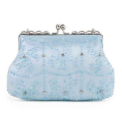 Farfalla 90449 - Cartera de mano de satén para mujer azul azul: Amazon.es: Zapatos y complementos