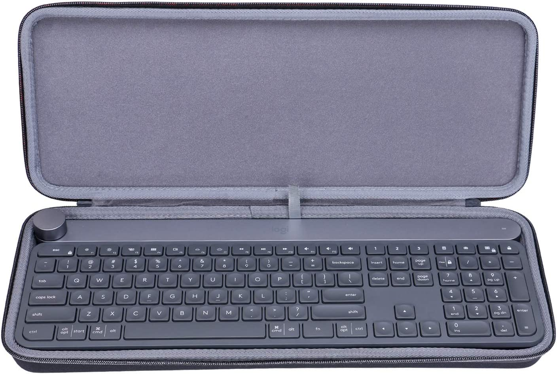 XANAD Funda rígida para teclado inalámbrico Logitech Craft, bolsa de transporte