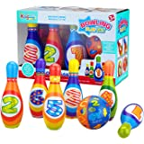 Bo-Toys Kids Bowling Play Set Child Safe Lightweight Pins & Ball Sport Game for Boys, Girls, Toddlers, Children