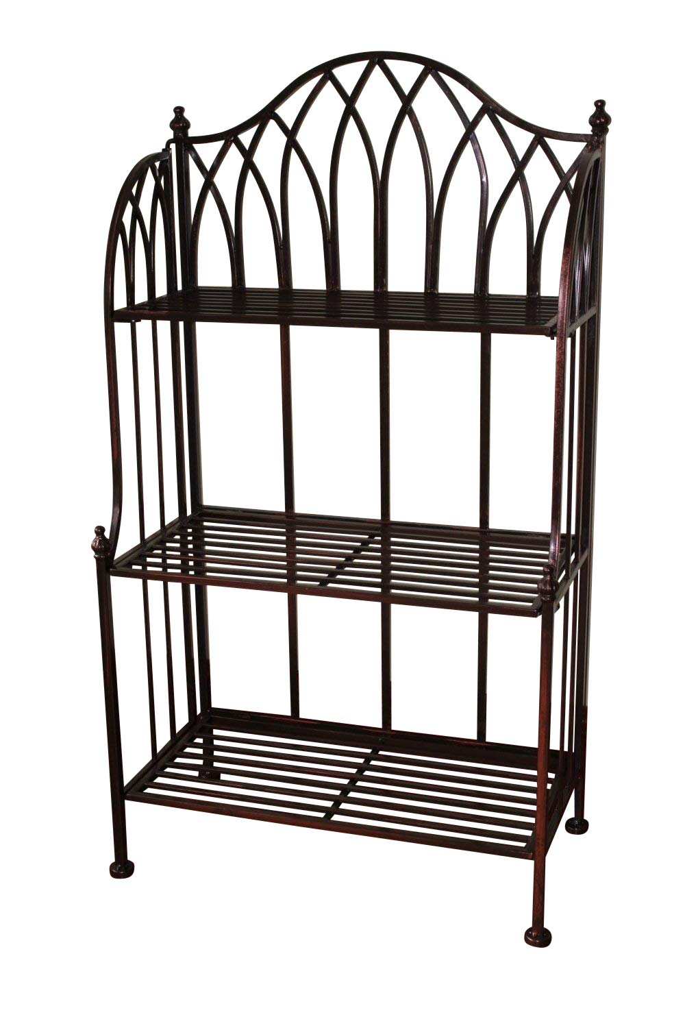 Olive Grove Versailles Metal 3 Tier Folding Rack- Ideal as a plant stand or general shelving Garden Market Place