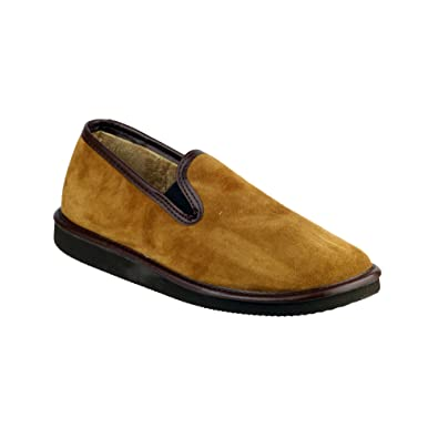 Mirak Slip-On Textile Lined Mens Slippers - Brown - Size 8 k7YKe2O