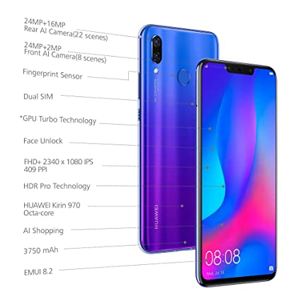 8dae65dee4d43 (CERTIFIED REFURBISHED) Huawei Nova 3 (Iris Purple