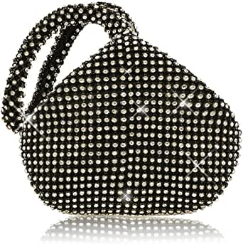 JIAN YA NA Women Ladies' Evening Clutch Bling Glitter Purse Triangle Design Wedding Purse Handbag for Party Prom