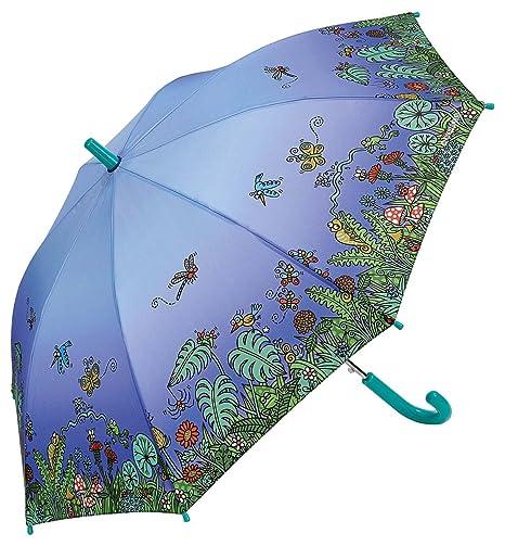 Paraguas Kukuxumusu Infantil Automático Jardín Azul