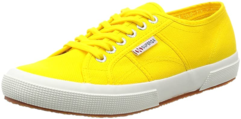 Superga 2750 Cotu Classic Sneakers Low-Top Unisex Damen Herren Gelb