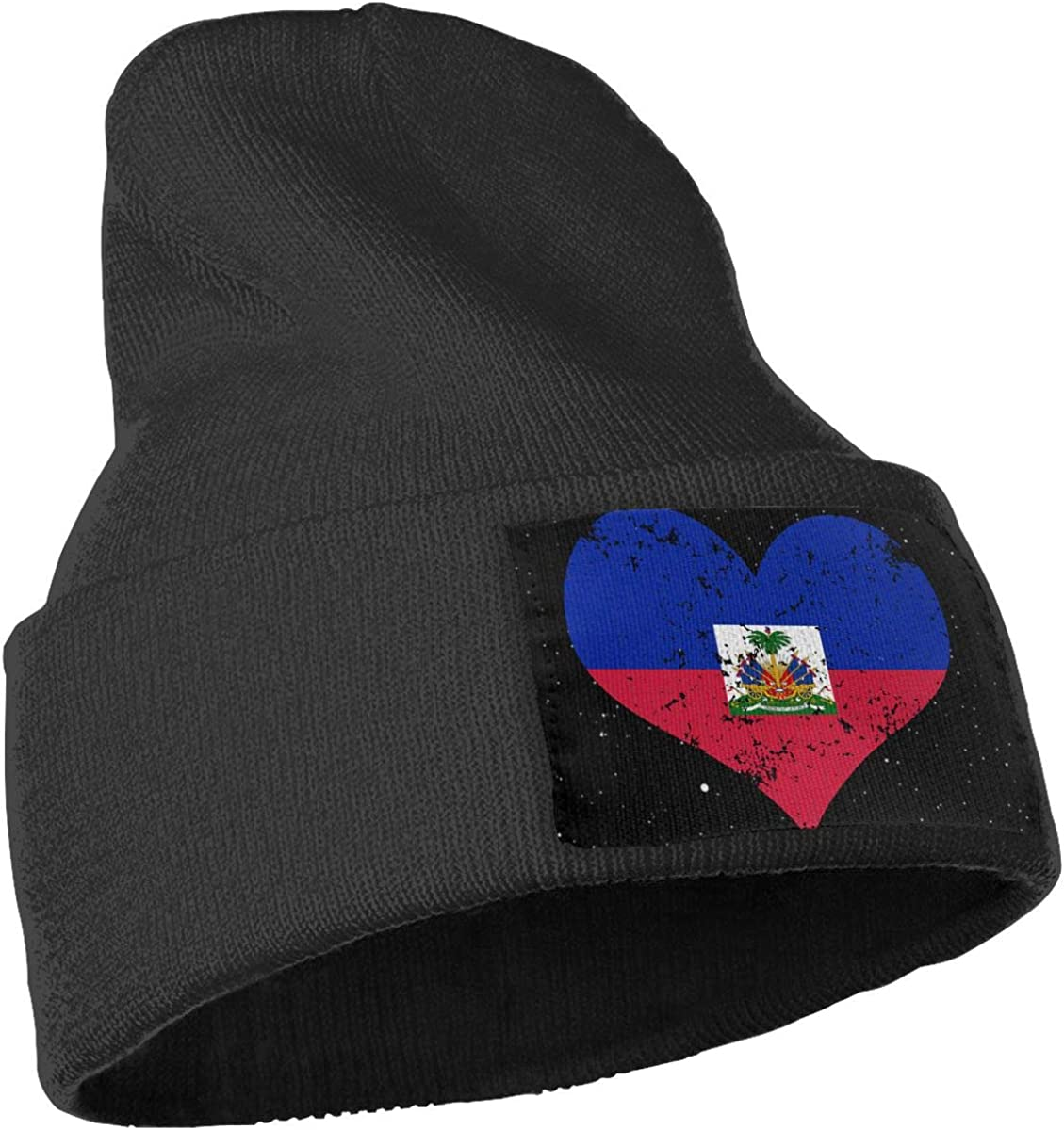 Haiti Heart Flag Ski Cap Men Women Knit Hats Stretchy /& Soft Beanie