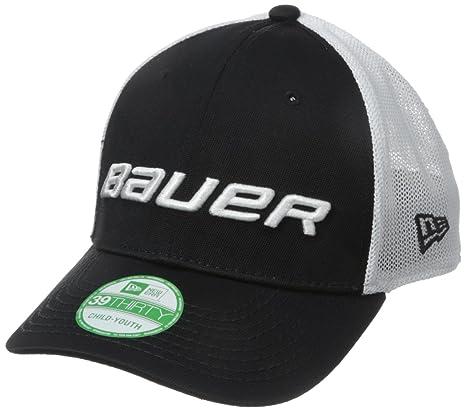 Amazon.com  Bauer Youth New Era 39Thirty Mesh Cap 77740ece1df