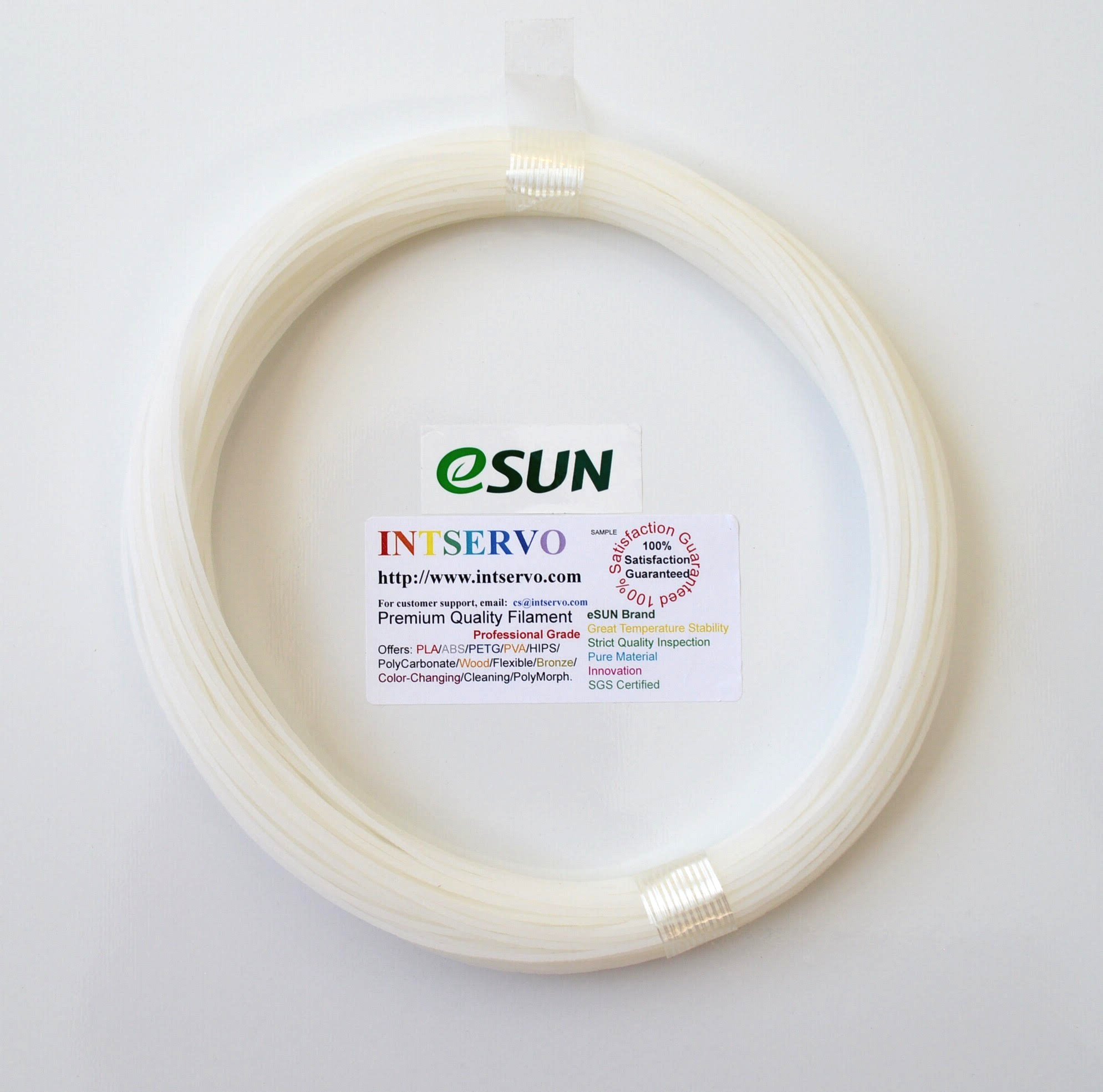 eSUN 3D Printer CLEANING Filament 1.75mm Natural 0.1kg for all 1.75mm FDM 3D Printers, 1.75mm Cleaning by eSUN