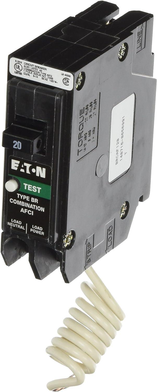 Lot Of 5 NEW- Eaton BR120AF 20 Amp Single Pole Arc Fault Circuit Breaker