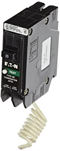 Eaton Corporation BRCAF120 Single Pole Type Br 1 Combo Arc Fault Circuit Breaker, 20-Amp